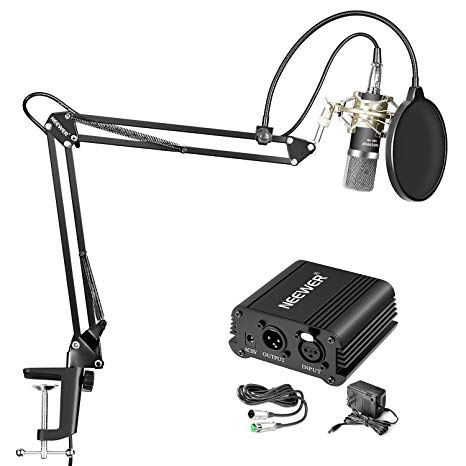 Neewer NW-700 Condenser Microphone & NW-35 Suspension Boom Scissor Arm Stand